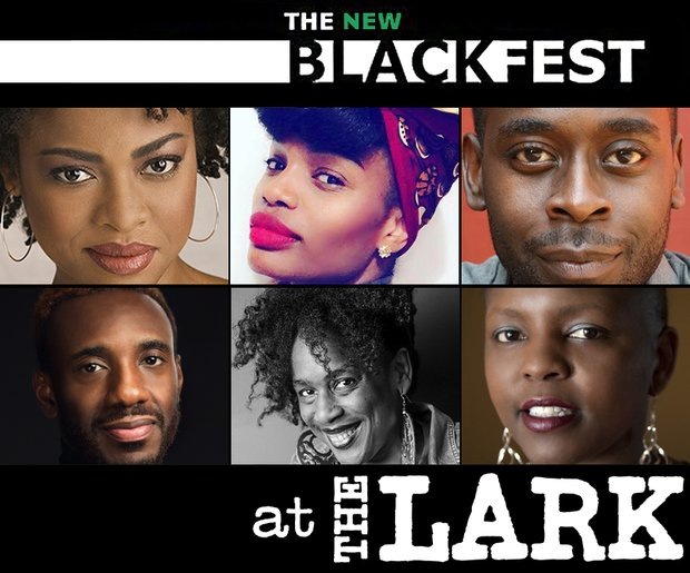 A compilation of images of the artists participating in The New Black Fest at The Lark. Top row, left to right: Headshots of Pascale Armand, Erika Dickerson-Despenza, James Ijames. Bottom row, left to right: Donja Love, Robyne Walker Murphy, Yoruba Richen