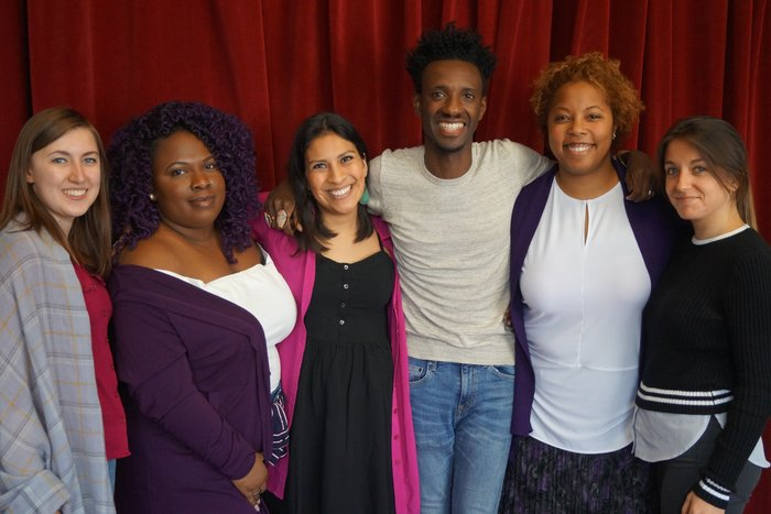 The 2016-17 Apprentice team with Van Lier New Voices Playwriting Fellow Donja R. Love