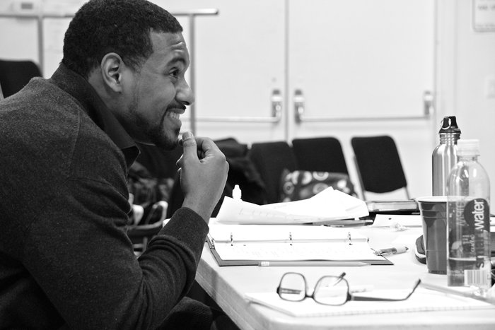 Playwright Dennis A. Allen II during rehearsals of AMERICA'S FAVORITE PASTIME
