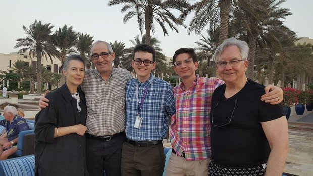 Kate Loewald, John Clinton Eisner, Jake Eisner, John Baker, and Bill Martin out and about in Abu Dhabi.