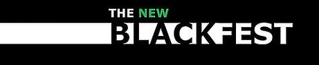"Logo: In small type, ""The New"". In large type ""Black Fest"""