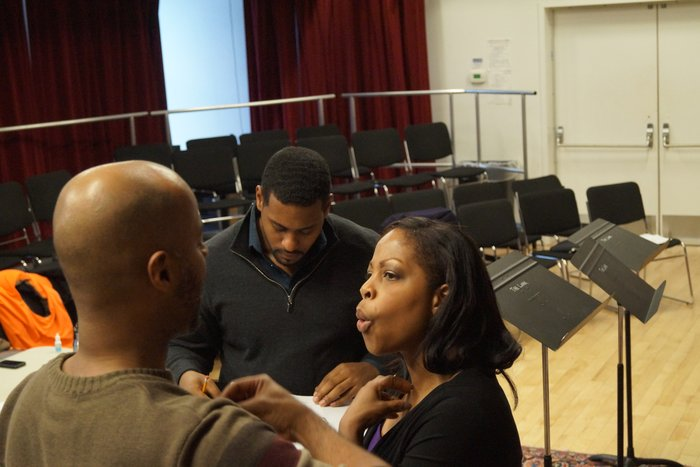Playwright Dennis A. Allen II stands close by during rehearsals of AMERICA'S FAVORITE PASTIME