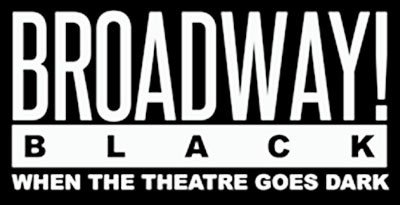 "broadway black logo. It reads: ""When Theatre Goes Dark"""