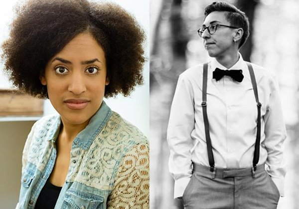 The Lark Awards Brittany K. Allen and Christina Quintana with 2017 Van Lier New Voices Fellowship