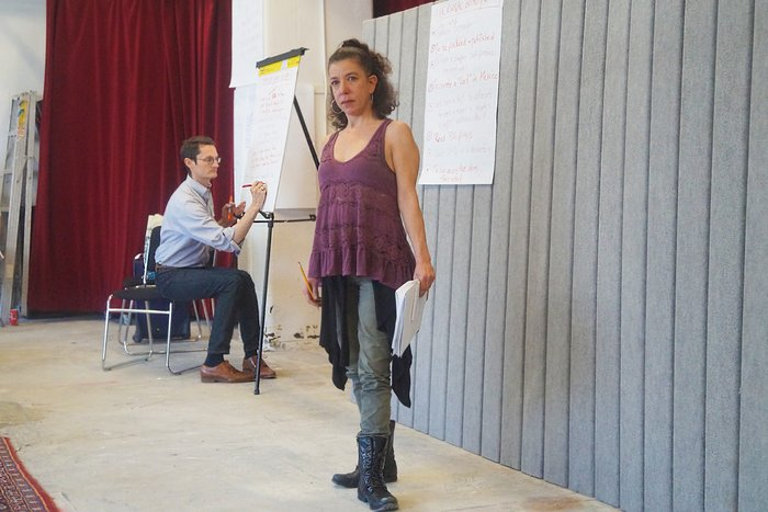Mariana Carreño King leads a visioning exercise at The 2016 México/US Convening