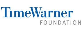 "Time Warner Foundation Logo. Blue text reads ""Time Warner."" Gray text reads ""Foundation""."